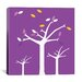 <strong>iCanvasArt</strong> Autumn Trees Graphic Art on Canvas in Purple