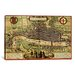 <strong>iCanvasArt</strong> Antique Map of London (1572) by Georg Braun Graphic Art on Canvas in Color