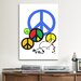 <strong>iCanvasArt</strong> Political Peace Sign Symbol Graphic Art on Canvas