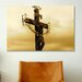 <strong>iCanvasArt</strong> Christian Crucifix Statue Karlovy Most, Prague Photographic Print on Canvas