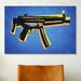iCanvasArt 'MP5 Sub Machine Gun' by Michael Tompsett Graphic Art on Canvas