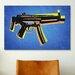 iCanvasArt 'MP5 SubMachine Gun' by Michael Tompsett Graphic Art on Canvas