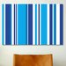 <strong>iCanvasArt</strong> Striped Art Cobalt Baby Blue Graphic Art on Canvas