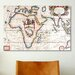 <strong>iCanvasArt</strong> Antique Asia and Africa Map Graphic Art on Canvas