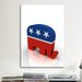 <strong>iCanvasArt</strong> Political GOP Republican Party Elephant Symbol Graphic Art on Canvas