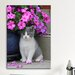 iCanvasArt 'Kitten and Flower' by Carl Rosen Photographic Print on Canvas