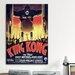 <strong>iCanvasArt</strong> King Kong (Movie) Advertising Vintage Poster Canvas Print Wall Art