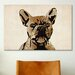 <strong>iCanvasArt</strong> 'French Bulldog' by Michael Tompsett Graphic Art on Canvas