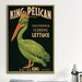<strong>King Pelican Brand California Lettuce Label Vintage Advertisement o...</strong> by iCanvasArt