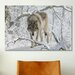 <strong>'Zoo Wolf 03' by Gordon Semmens Photographic Print on Canvas</strong> by iCanvasArt