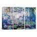 <strong>Claude Monet Nympheas 3 Piece on Canvas Set</strong> by iCanvasArt