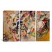 iCanvasArt Wassily Kandinsky Composition VII 3 Piece on Canvas Set