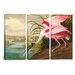 iCanvasArt John James Audubon Roseate Spoonbill 3 Piece on Canvas Set
