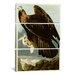 John James Audubon Golden Eagle 3 Piece on Canvas Set by iCanvasArt
