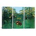 iCanvasArt Henri Rousseau The Tropics 3 Piece on Canvas Set