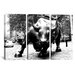 iCanvasArt Political Wall Street Bull 3 Piece on Canvas Set in Black and White