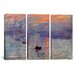 <strong>Claude Monet Sunrise Impression 3 Piece on Canvas Set</strong> by iCanvasArt
