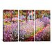 <strong>Claude Monet Jardin De Giverny 3 Piece on Canvas Set</strong> by iCanvasArt