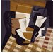 """Broc et Verre (Wine Jug and Glass)"" Canvas Wall Art by Juan Gris"