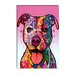 """Cherish The Pit Bull"" Canvas Wall Art by Dean Russo"