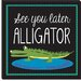 "<strong>""Alligator"" Canvas Wall Art by Erin Clark</strong> by iCanvasArt"