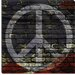 Peace Sign, USA Flag, Brick Wall Canvas Wall Art