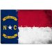 North Carolina Flag, Grunge Painted Canvas Wall Art