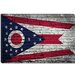 Ohio Flag, Brick Wall Canvas Wall Art