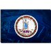 Virginia Flag, Pentagon with Grunge Canvas Wall Art