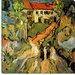 """Village Street and Steps in Auvers with Two Figures"" Canvas Wall Art by Vincent Van Gogh"