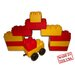 Jumbo Blocks 20 Piece Garage and Car Playset