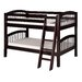 Low Bunk Bed with Angle Ladder and Arch Spindle Headboard by Camaflexi