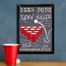 <strong>JDS Personalized Gifts</strong> Personalized Gift Beer Pong Traditional Framed Graphic Art