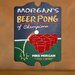 <strong>JDS Personalized Gifts</strong> Personalized Gift Beer Pong Graphic Art