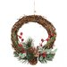 Oddity Inc. Berry Pine Cone Vine Wreath