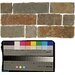 "<strong>6"" x 12"" Stone Mosaic Liner Tile in Rajah Multicolor</strong> by Bedrosians"