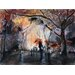 <strong>'Autumn Rain' by Nicolas Jolly Painting Print on Canvas</strong> by Epic Art