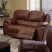Benson Leather Reclining Loveseat