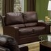 Acadia Leather Reclining Loveseat
