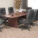 Regency Posh High-Back Leather with Nylon Base Swivel Office Chair