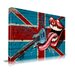 Maxwell Dickson 'Rock Lips' British Flag Graphic Art on Wrapped Canvas