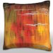 Maxwell Dickson Autumn Trees Reflected in Pond Throw Pillow