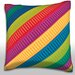 Maxwell Dickson Colorful Ribbons Throw Pillow