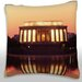 Maxwell Dickson Lincoln Memorial at Night Throw Pillow