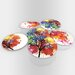 Maxwell Dickson Splashes of Paint Coaster (Set of 6)