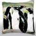 <strong>Colony of Gentoo Penguins Throw Pillow</strong> by Maxwell Dickson