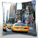 <strong>Taxis on the Street in New York City Throw Pillow</strong> by Maxwell Dickson