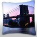 <strong>View of the Brooklyn Bridge at Dusk Throw Pillow</strong> by Maxwell Dickson