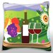 Fruit, Wine, and Cheese on Table Throw Pillow by Maxwell Dickson
