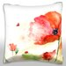 <strong>Red Tender Flower Throw Pillow</strong> by Maxwell Dickson